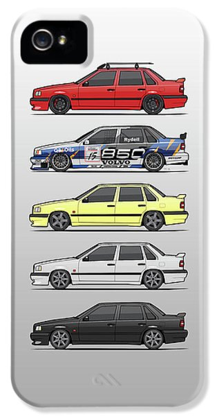 Pegasus iPhone 5s Case - Stack Of Volvo 850r 854r T5 Turbo Saloon Sedans by Monkey Crisis On Mars