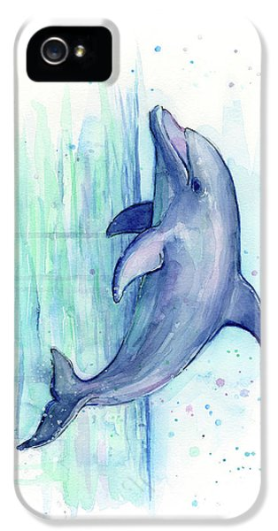 Dolphin Watercolor IPhone 5s Case
