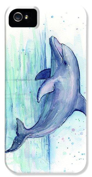 Dolphin Watercolor IPhone 5s Case by Olga Shvartsur