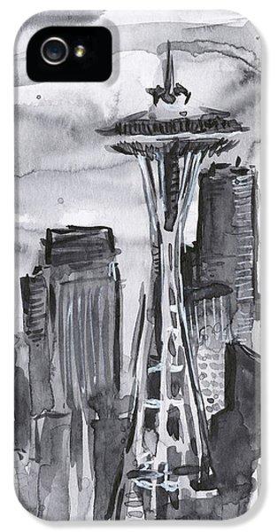 Seattle iPhone 5s Case - Seattle Skyline Space Needle by Olga Shvartsur