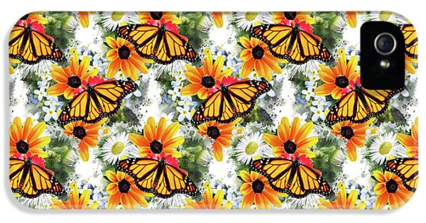 IPhone 5s Case featuring the mixed media Butterfly Pattern by Christina Rollo