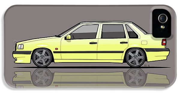 Pegasus iPhone 5s Case - Volvo 850r 854r T5-r Creme Yellow by Monkey Crisis On Mars