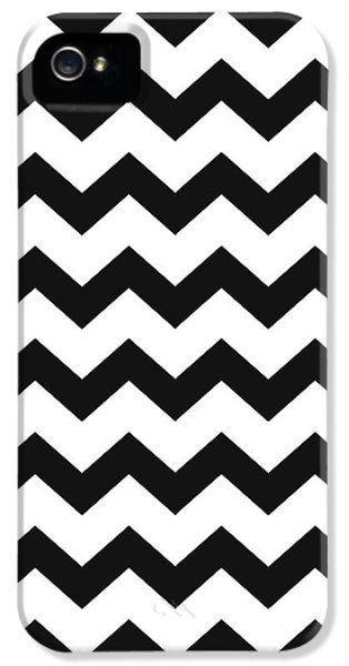IPhone 5s Case featuring the mixed media Black White Geometric Pattern by Christina Rollo