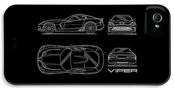 Viper Blueprint IPhone 5s Case by Mark Rogan