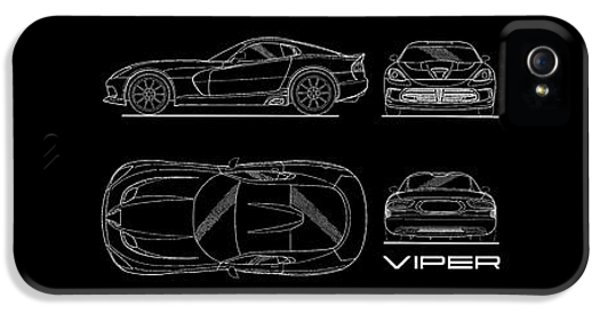 Viper Blueprint IPhone 5s Case by Mark Rogan