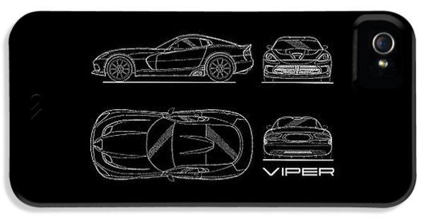 Srt Viper Blueprint IPhone 5s Case by Mark Rogan