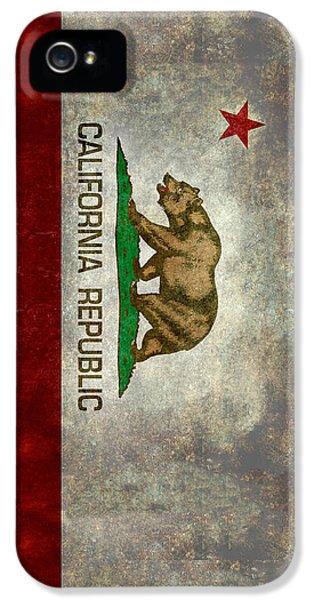 California Republic State Flag Retro Style IPhone 5s Case
