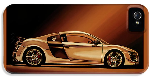 Car iPhone 5s Case - Audi R8 2007 Painting by Paul Meijering