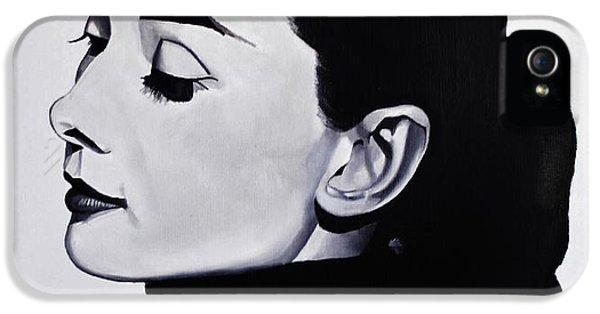 Audrey Hepburn 1 IPhone 5s Case by Brian Broadway