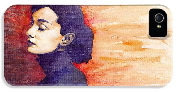 Audrey Hepburn 1 IPhone 5s Case by Yuriy  Shevchuk