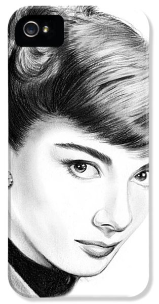Audrey Hepburn IPhone 5s Case by Greg Joens