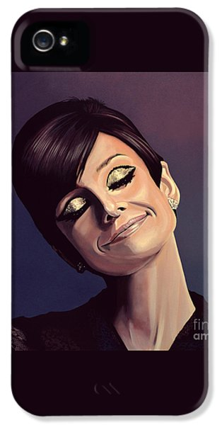Audrey Hepburn Painting IPhone 5s Case by Paul Meijering