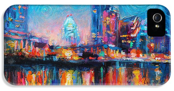 Austin Art Impressionistic Skyline Painting #2 IPhone 5s Case by Svetlana Novikova