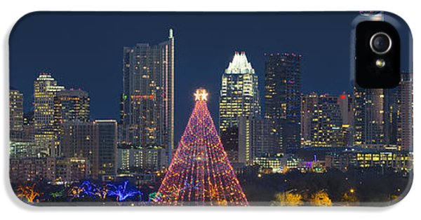 Austin Panorama Of The Trail Of Lights And Skyline IPhone 5s Case
