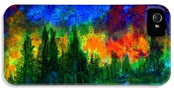 IPhone 5s Case featuring the painting Autumn Fires by Claire Bull