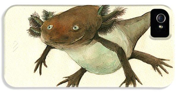 Axolotl IPhone 5s Case by Juan Bosco