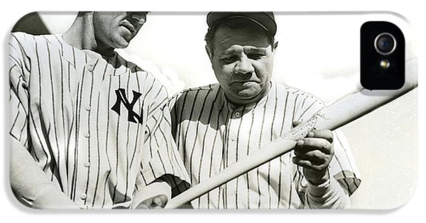 Babe Ruth And Lou Gehrig IPhone 5s Case