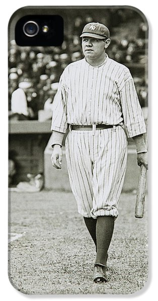 Babe Ruth Going To Bat IPhone 5s Case
