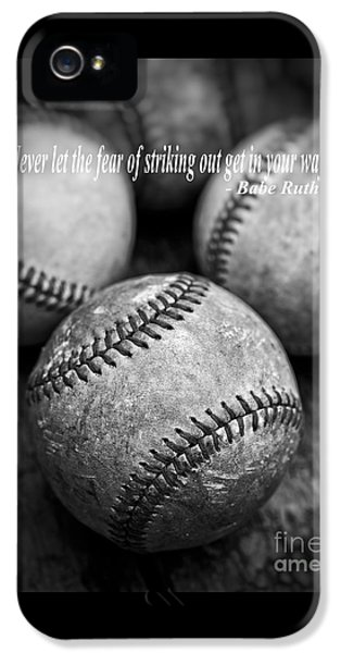 Babe Ruth Quote IPhone 5s Case by Edward Fielding