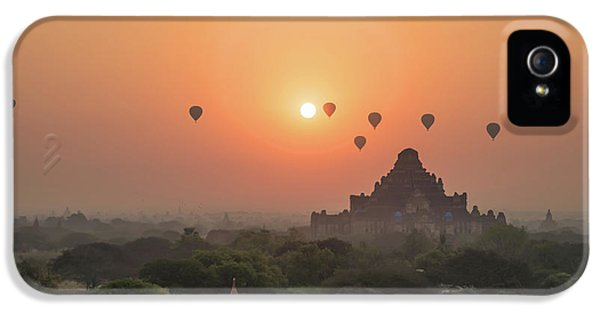 Burmese Python iPhone 5s Case - Bagan Temple by Delphimages Photo Creations