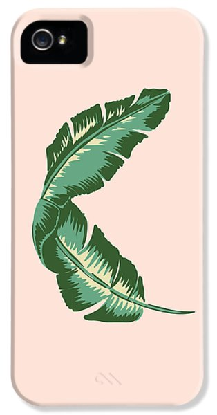 Banana Leaf Square Print IPhone 5s Case by Lauren Amelia Hughes