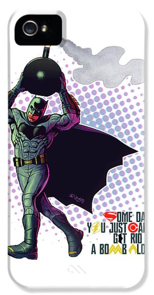 Ben Affleck iPhone 5s Case - Batfleck And The Bomb 2 by Khaled Alsabouni