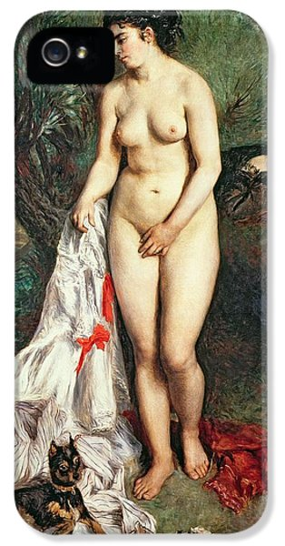 Griffon iPhone 5s Case - Bather With A Griffon Dog by Pierrre Auguste Renoir