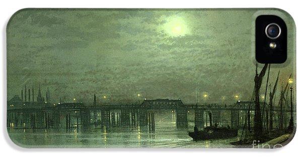 Battersea Bridge By Moonlight IPhone 5s Case by John Atkinson Grimshaw