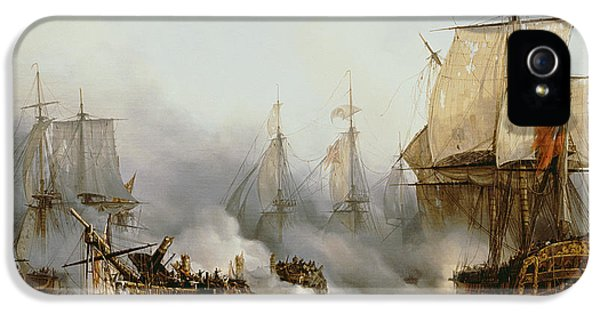 Boat iPhone 5s Case - Battle Of Trafalgar by Louis Philippe Crepin