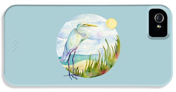 Beach iPhone 5s Case - Beach Heron by Amy Kirkpatrick