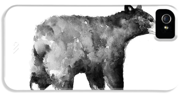 Bear Watercolor Drawing Poster IPhone 5s Case by Joanna Szmerdt