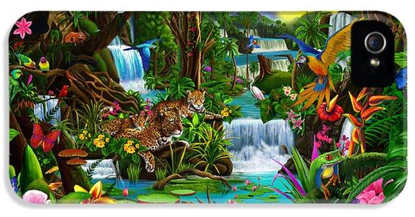 Toucan iPhone 5s Case - Beautiful Rainforest by Gerald Newton