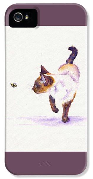 Cat iPhone 5s Case - Bee Free by Debra Hall