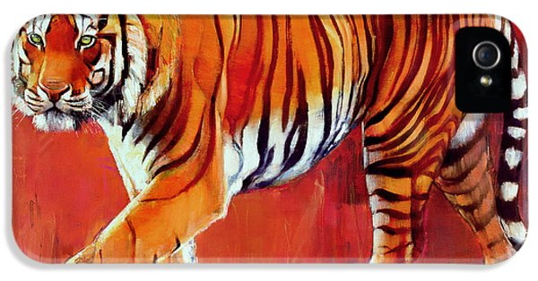 Bengal Tiger  IPhone 5s Case by Mark Adlington