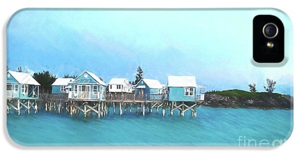 Hillary Clinton iPhone 5s Case - Bermuda Coastal Cabins by Luther Fine Art