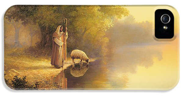 Sheep iPhone 5s Case - Beside Still Waters by Greg Olsen