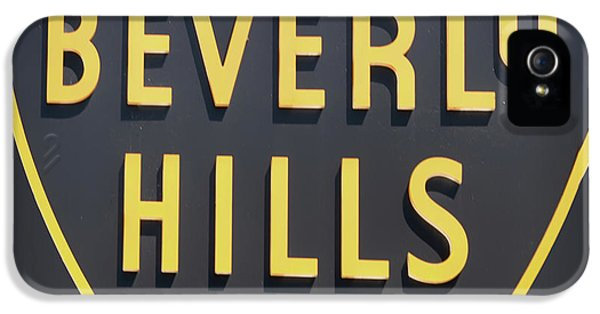 Beverly Hills Sign IPhone 5s Case by Mindy Sommers