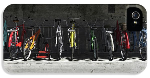 Transportation iPhone 5s Case - Bike Rack by Cynthia Decker