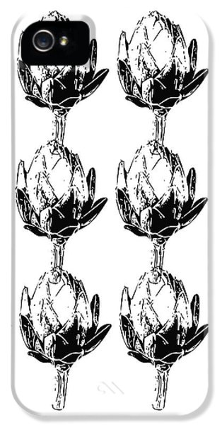 Black And White Artichokes- Art By Linda Woods IPhone 5s Case by Linda Woods
