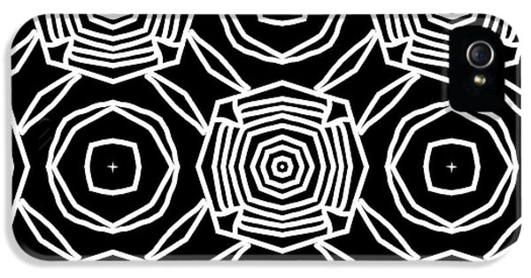 Niagra Falls iPhone 5s Case - Black And White Modern Roses- Pattern Art By Linda Woods by Linda Woods
