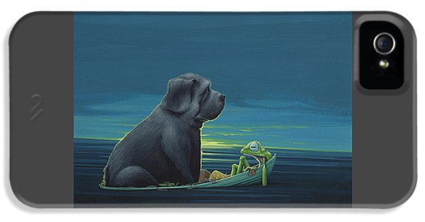 Black Dog IPhone 5s Case by Jasper Oostland