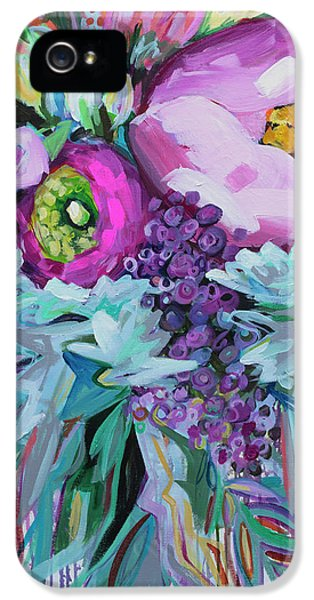 Floral iPhone 5s Case - Blessings Come From Raindrops by Kristin Whitney