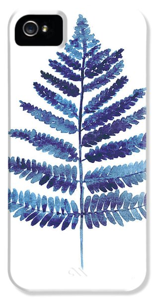 Garden iPhone 5s Case - Blue Ferns Watercolor Art Print Painting by Joanna Szmerdt