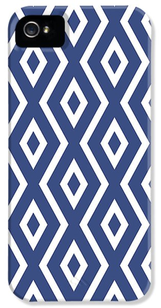 Pattern iPhone 5s Case - Blue Pattern by Christina Rollo