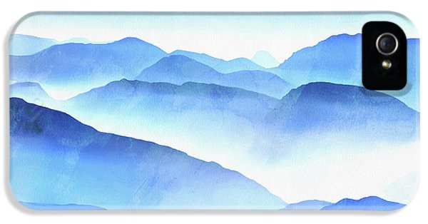 Blue iPhone 5s Case - Blue Ridge Mountains by Edward Fielding