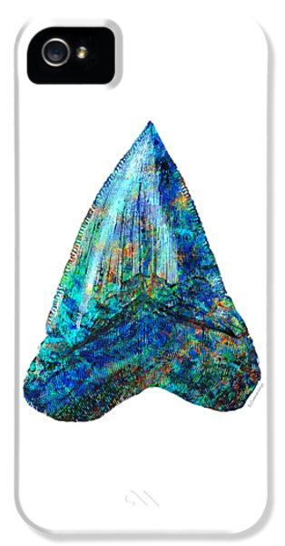 Blue Shark Tooth Art By Sharon Cummings IPhone 5s Case by Sharon Cummings