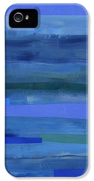Pattern iPhone 5s Case - Blue Stripes 1 by Jane Davies