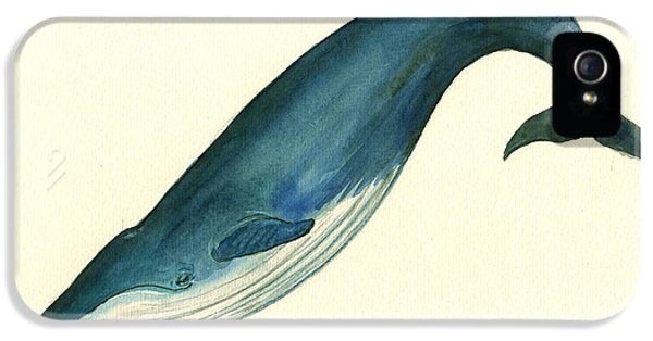Blue Whale Painting IPhone 5s Case by Juan  Bosco