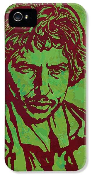 Bob Dylan Pop Art Poser IPhone 5s Case by Kim Wang