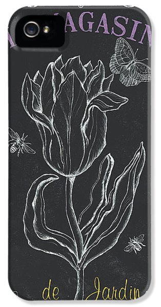 Tulip iPhone 5s Case - Bortanique 4 by Debbie DeWitt